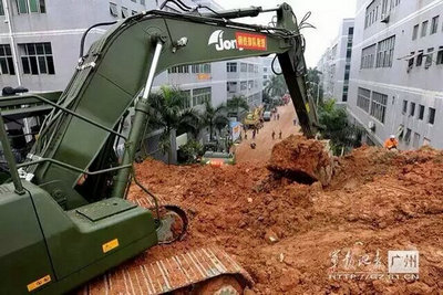 Jonyang equipment participate in the rescue work in Shenzhen