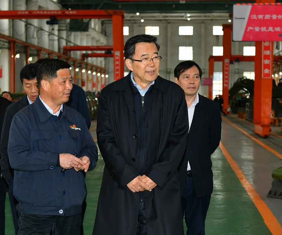 Sun Zhigang, the secretary of the Guizhou Provincial Party Committee, visited Jonyang Kinetics to investigate the work of military and civilian integration