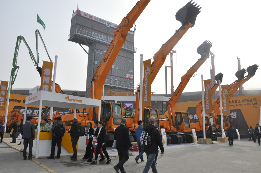 Professional and reliable, carrying our dreams --- Jonyang Kinetics unveiled with new equipment in 2018 Shanghai Bauma Exhibition